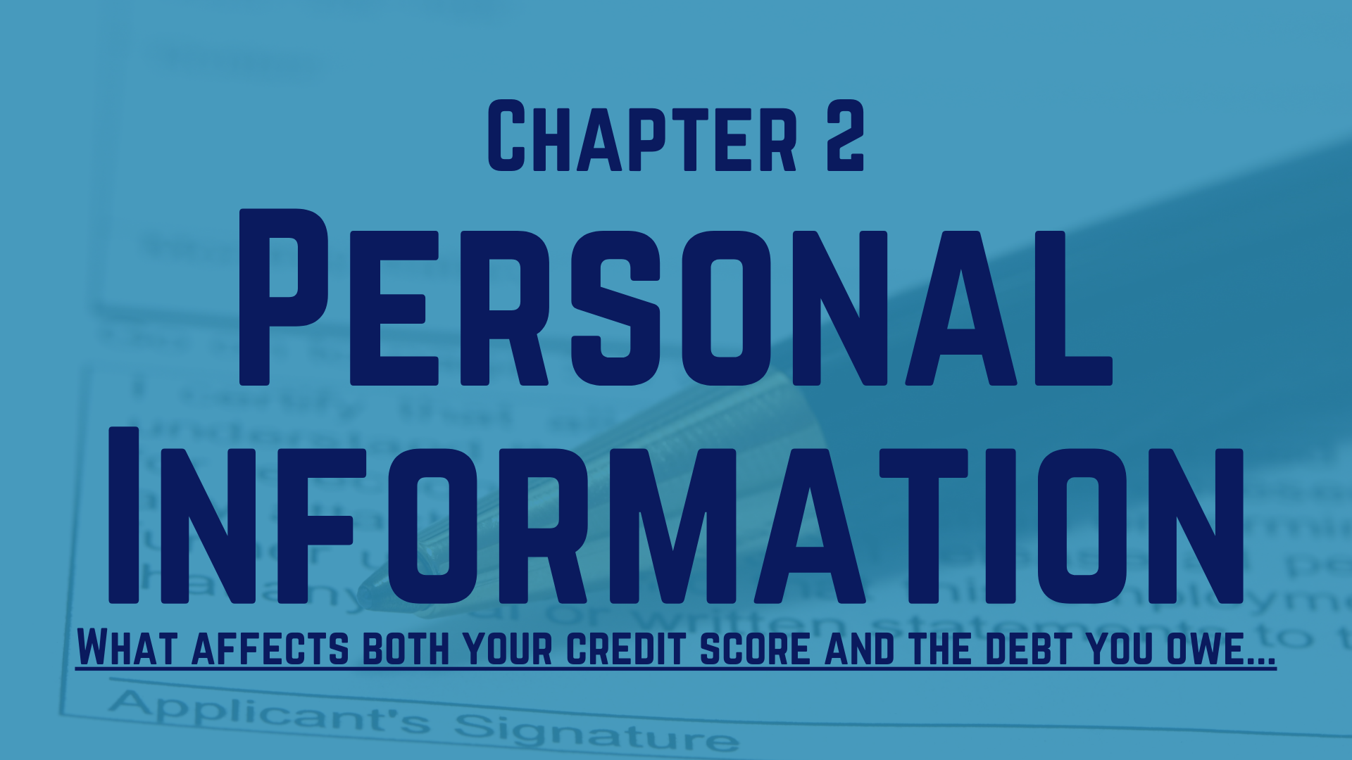 Ch 2 - Personal Information